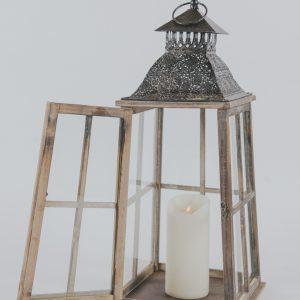 Wood Metal Lantern 24»_1
