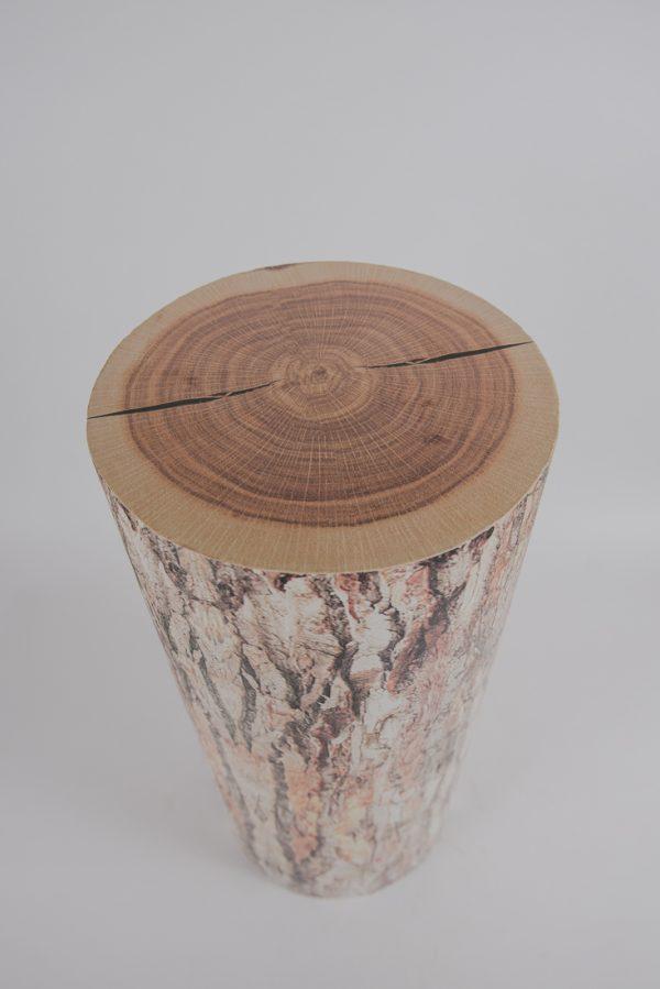 Wood log pedestal 36»