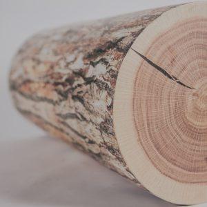 Wood log pedestal 36»_1