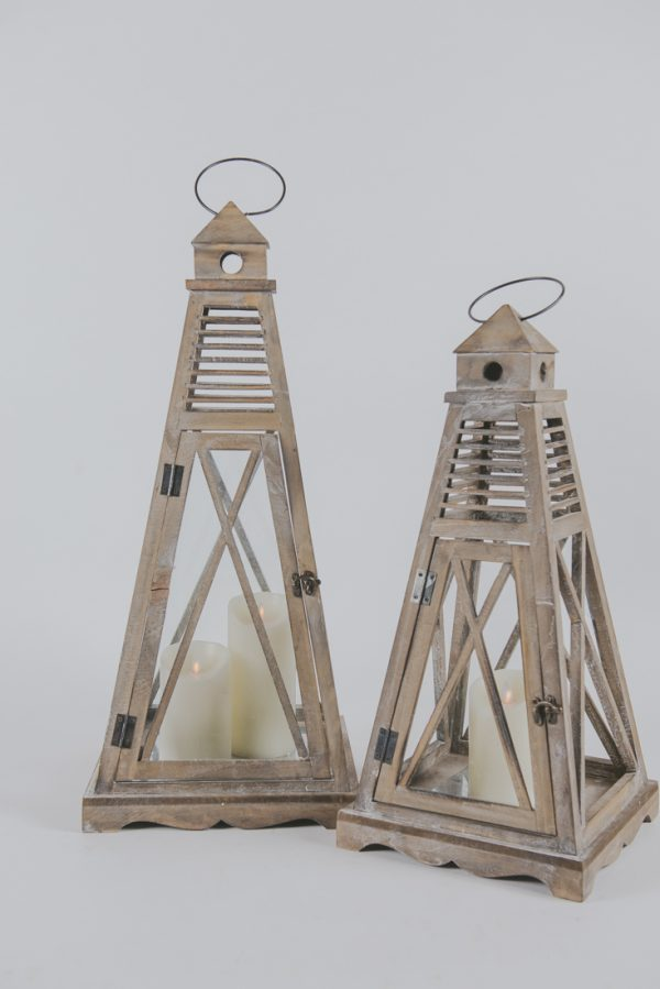 Wood phare Lantern 28»- 22» 3