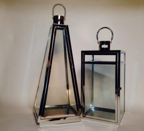 36»-42» Chrome Lantern