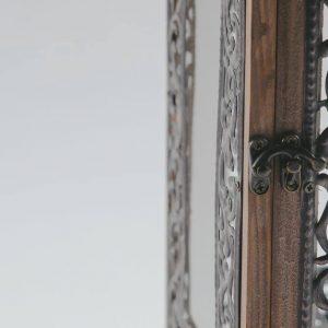 lantern wood black metal frame 1
