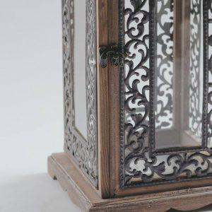 lantern wood black metal frame 2