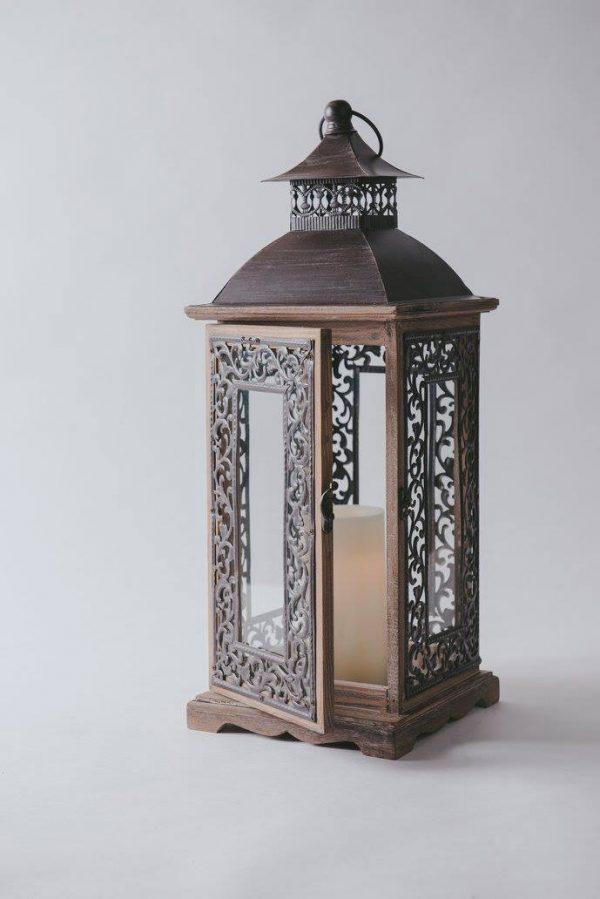 lantern wood black metal frame 3